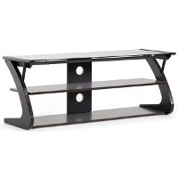 Dark Brown/ Black TV Stand - Sculpten