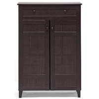 FP-1203 Dark Brown Shoe Cabinet - Glidden