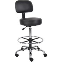 Black Medical and Draft Stool