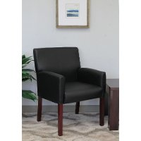 Black Reception Arm Chair
