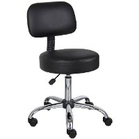Black Drafting Office Chair with Back
