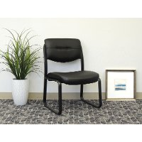 Black Leather Office Side Chair