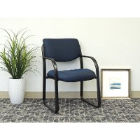 Blue and Black Guest Office Chair