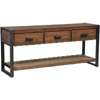Bartlett console table rc willey furniture store for Sofa table rc willey