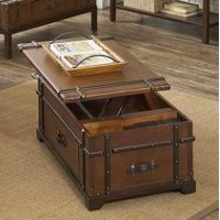 Riverside Trunk Lift Top Coffee Table - Latitudes