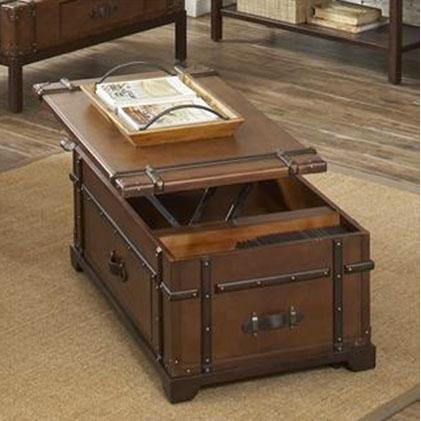 Riverside Trunk Lift Top Coffee Table Laudes