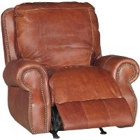 Brandy Brown Leather Power Recliner - Brandy