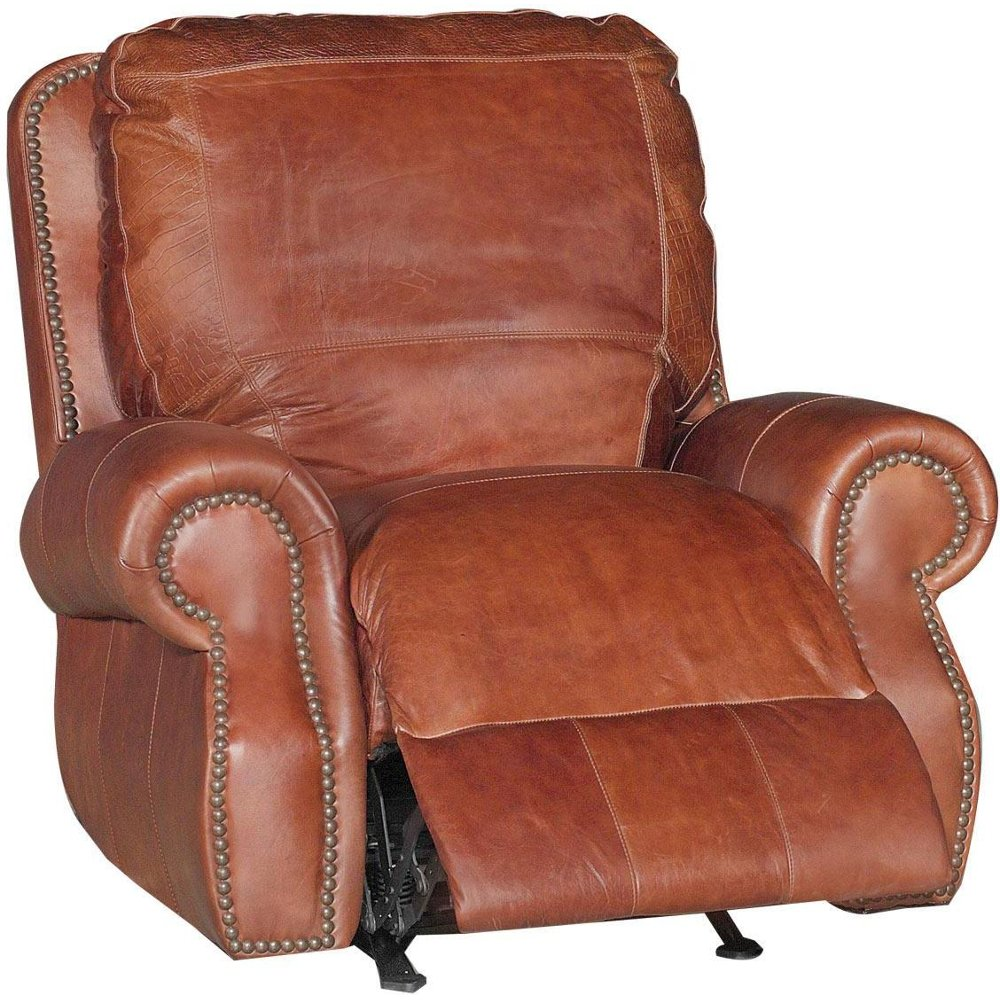 Easy chair recliner -  Brandy Power Leather Recliner