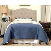 Ivory Button Tufted Full-Queen Upholstered Headboard - Megan