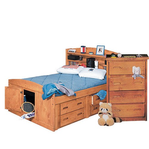 palomino cinnamon rustic twin storage bed