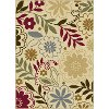 LAGUNA4542BEIGE 5x7 5 x 7 Medium Beige, Blue & Red Area Rug - Laguna