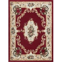 LGN4610 5x7 5 x 7 Medium Traditional Red Area Rug - Laguna