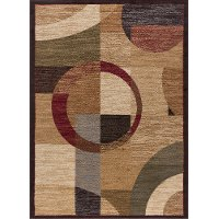 ELG5110 8x10 8 x 10 Large Tan and Red Area Rug - Elegance