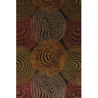5 x 8 Medium Transitional Red & Orange Area Rug - Affinity