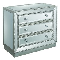 Silver 3 Drawer Mirrored Chest - Elsinore
