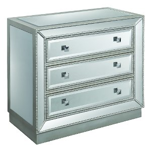 vegas white glass mirrored bedside tables. Silver 3 Drawer Mirrored Chest - Elsinore Vegas White Glass Bedside Tables