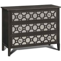 Charcoal Mirrored 3 Drawer Chest