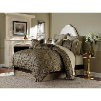 Bronze and Chocolate Imperial Queen Bedding Collection