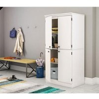 7260971 White 4-Door Storage Cabinet - Morgan