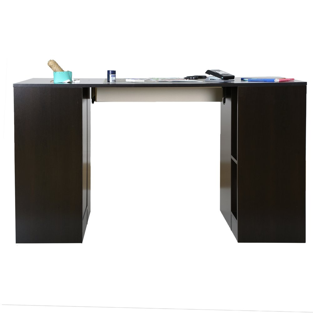 Black Counter Height Craft Table With Storage Crea Rc Willey Furniture