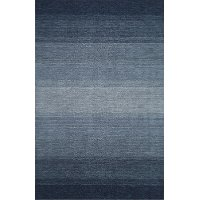8 x 10 Large Ombre Navy Blue Area Rug - Torino