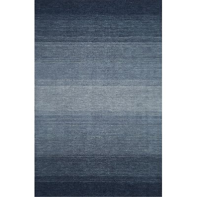 8 X 10 Large Ombre Navy Blue Area Rug   Torino