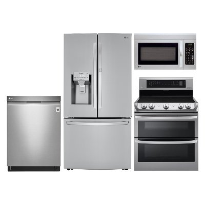 lg ss 4pc ele kit lg stainless steel 4 piece electric kitchen lg stainless steel 4 piece electric kitchen appliance package   rc      rh   rcwilley com