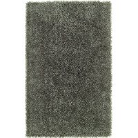 5 x 8 Medium Contemporary Gray Shag Rug - Belize