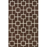5 x 8 Medium Mocha Brown Area Rug - Infinity