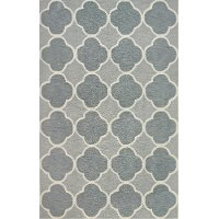 5 x 8 Medium Gray and Blue Rug - Infinity