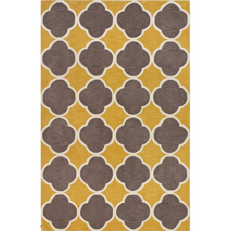 8 X 10 Large Transitional Yellow And Brown Area Rug Infinity