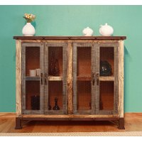Rustic Reclaimed Wood Console - Antique