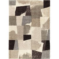 8 x 11 Large Slate Gray & Taupe Area Rug - Wild Weave