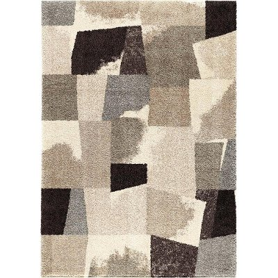 8 x 11 large slate gray & taupe area rug - wild weave | rc willey