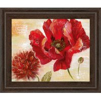 Passion For Poppies II Red Framed Wall Art