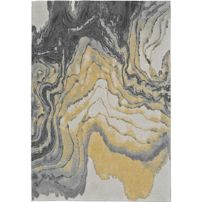 8 x 11 large slate gray and yellow area rug - bleeker | rc willey 8x11 Area Rugs