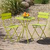 OP-BS3-SOL-GRN Green Red Star Traders 3 Piece Bistro Set