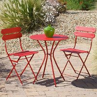OP-BS3-SOL-R Red 3 Piece Bistro Set