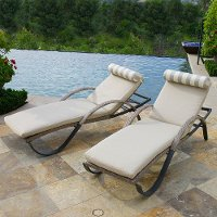 OP-PEAL2-CNS-SLT-K Slate Chaise Lounge Pair - Cannes