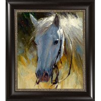 White Horse Framed Wall Art