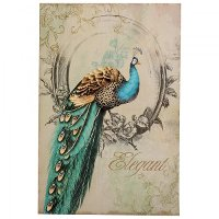 Peacock Poise I Elegant Canvas Wall Art