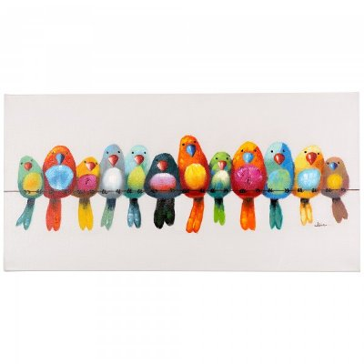 Wall Art Birds multi-color 'birds on a wire i' canvas wall art   rc willey
