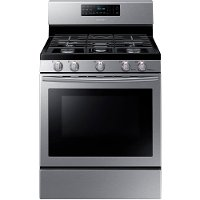 NX58H5600SS Samsung Gas Range with 5th Oval Burner - 5.8 cu. ft. Stainless Steel