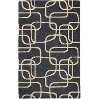 5 x 8 Medium Ebony Area Rug - Astronomy