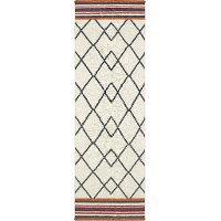 3 x 8 Runner Ivory & Red Area Rug - Nomad