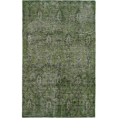 4 X 6 Small Vintage Green Area Rug   Restoration