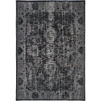 4 x 6 Small Vintage Black Area Rug - Restoration