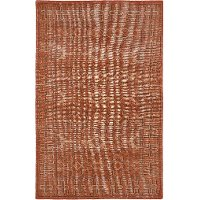 4 x 6 Small Vintage Paprika Red Area Rug - Restoration