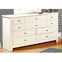 Laguna White Contemporary 9-Drawer Dresser