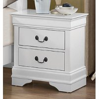 Classic Traditional White Nightstand - Mayville